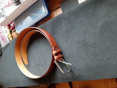 ceinture neuve 1.12cm en cuir